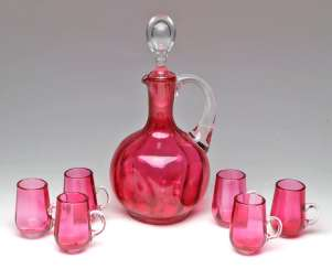 Carafe with glasses set to 1860