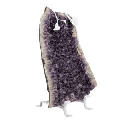 Large amethyst Geode WITH a DECORATIVE STAND
