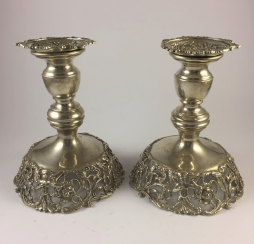 A pair of candlesticks 925 sample