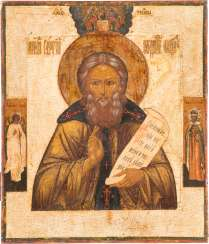 ICON WITH THE HOLY SERGEI OF RADONEZH