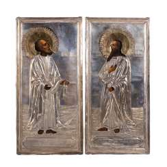 The twin icons of the Holy Apostle Peter and Paul