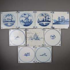 Mixed lot of Delft tiles