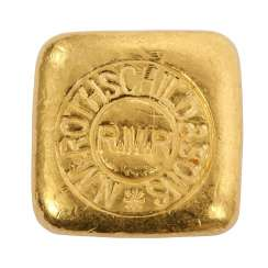 Rare 50 g gold manufacturer Rothschild & Sons bullion,