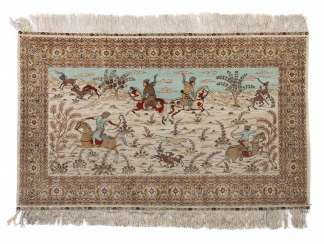 Hand Knotted Persian Hunting Carpet Turkey