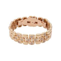Bracelet set with 48 brilliant-cut diamonds, together approx 0,48 ct,