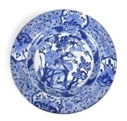 Blue-And-White Plate With Peacocks-