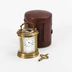 Cylindrical travel clock in original box