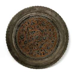 A Large Metal Plate. ORIENTAL, 20. Century