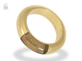Ring: solid design ring by Joop with stone trim, 18K Gold