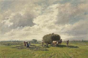 Thomassin, Désiré. Farmers in the hay harvest