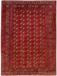 Exceptional large silk Tekke main carpet