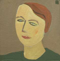 VASMI, RICHARD (1929-1998) Portrait of Larisa Skobkina , signed with a monogram, further titled in Cyrillic and dated 1997 on the reverse.