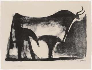 Picasso, Pablo 1881 Malaga - 1973 Mougins. With the black Bull. 1947