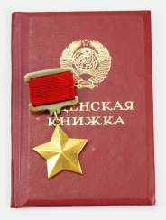 Soviet Union: order of the Golden star to the title of Hero of the Soviet Union, with ID.
