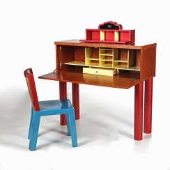 SOTTSASS, ETTORE & ZANUSO, MARCO, DESK, DANUBE, DESK AND CHAIR