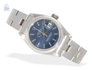 Wrist watch: high quality ladies watch Rolex Oyster Perpetual Date in steel, from 2010, with Box and papers