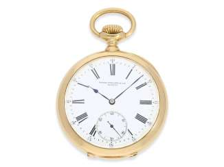 Pocket watch: very fine, heavy, Patek Philippe Observatory Chronometer 1. Class quality