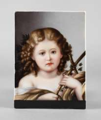 Porcelain Picture Plate Girl Portrait
