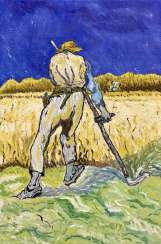 Copy of the painting of van Gogh's ' the Reaper '