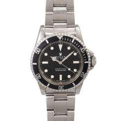 ROLEX Submariner men's watch, Ref. 5513, approx. the end of the 1970s. Stainless steel.