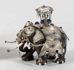 Elephant with silver fittings