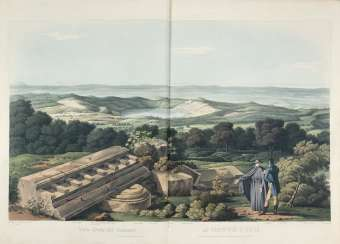 MIDDLETON, John Izard (1785-1849). - Grecian remains in Italy. A Description of Cyclopian Walls, and of Roman Antiquities. With topological and picturesque views of Ancient Latium. London: Edward Orme, 1812 [ma filigrana delle tavole datata 1823].