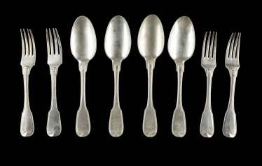 FOUR FORKS AND FOUR SPOONS