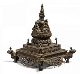 Rare stupa with the four Tathagata Buddha