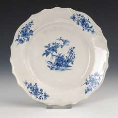 Plate with blue painting, Tournai.