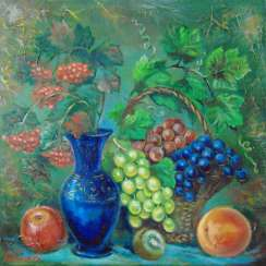 """still life with berries"""