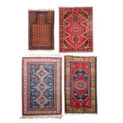 Four village carpets. PERSIA and TURKEY: