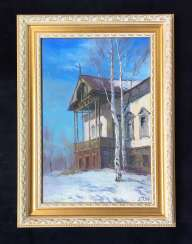 "Belyaev P. R. - ""Old house in Loshytsa"", 1984"