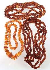 3 amber necklaces