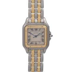 CARTIER Panthere ladies watch, approx. mid-1980s, probably in Ref. 83083242. Stainless Steel/Gold.