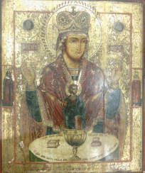 The icon of the mother of God the inexhaustible chalice 19th century