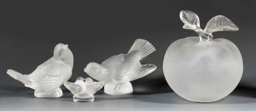 Four Lalique Glass Objects