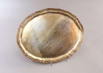 Oval Silver Tray, German