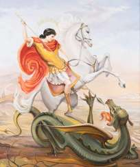 UNKNOWN ARTIST Working in the 21st century. Century St. George on horseback