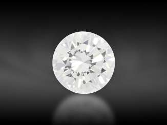 Brilliant: Brilliant of very high quality, approx. 0.61ct, from the liquidation of the court jeweler Roesner