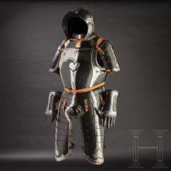 Black-and-white officer's Half-armour, with heart decor, Nuremberg, 1540/50