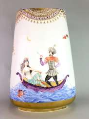 Very large Vase / fireplace vase: Meissen porcelain 1001 Arabian nights, Gold decorated, 46 cm. Prof. Heinz Werner, very good.
