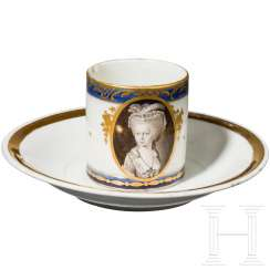 Cup with a portrait of a woman, late 18th century