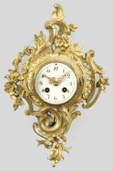 Small cartel clock in the Louis XV style