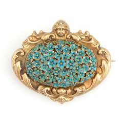 Viennese historicism brooch with enamel.