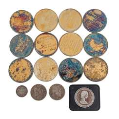 Collection of coins and medals, in SILVER -