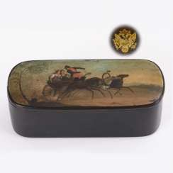 Russian lacquer can with troika