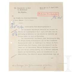 Sending Hans Heinrich Lammers letter for the appointment of Goering to