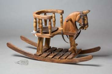 The Royal Rocking Horse - The Walnut Rocking Horse - Valley Legend - Family heirloom - The wooden rocking horse
