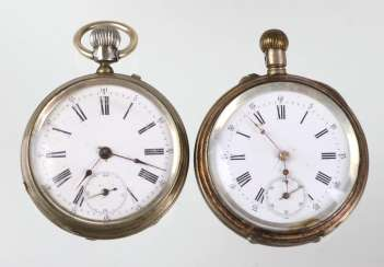 2 pocket watches around 1880/1900