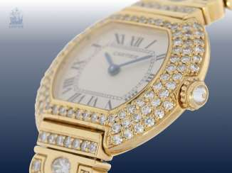 Watch: very expensive luxury version of a Cartier ladies watch
